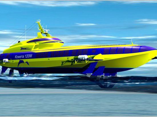 После длительного перерыва начато строительство пассажирского судна на подводных крыльях