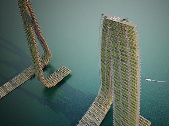 В Сингапуре появятся вертикальные плавучие фермы