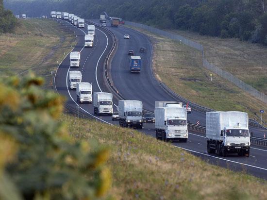 Первые грузовики уже пересекли границу с Украиной