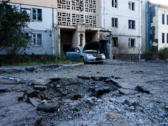 Боевые действия вплотную подобрались к центру Донецка