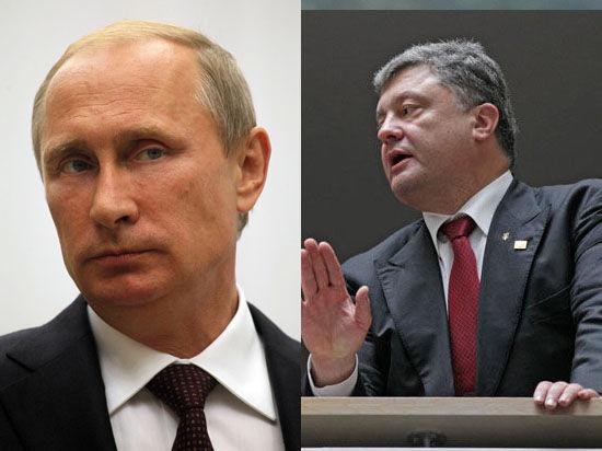 Точки зрения совпадают: Путин обсудил с Порошенко ситуацию на востоке Украины