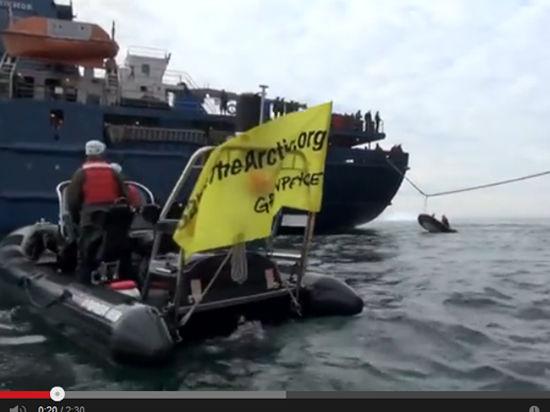 Greenpeace взялся за старое: активисты пытались блокировать платформу