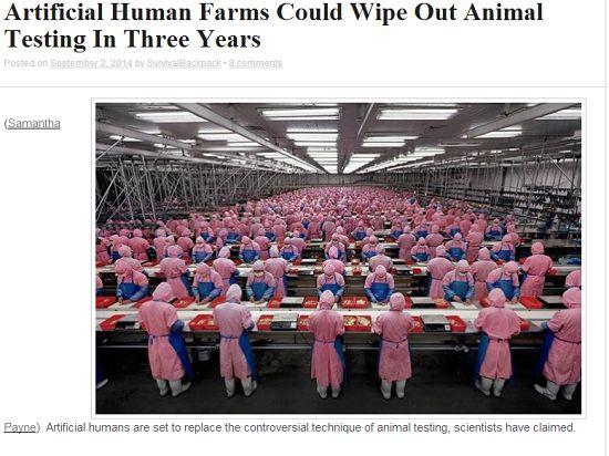 В течение трёх лет появятся искусственные человеческие фермы, которые прекратят эксперименты на животных