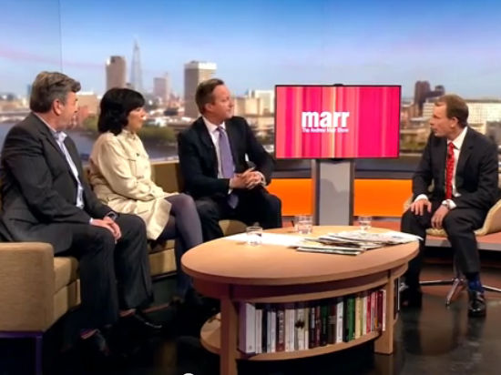 Дэвида Кэмерона «заткнули» в прямом эфире BBC
