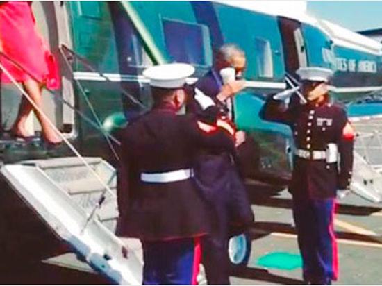 LatteSalute: Обама поприветствовал военных со стаканом в руке