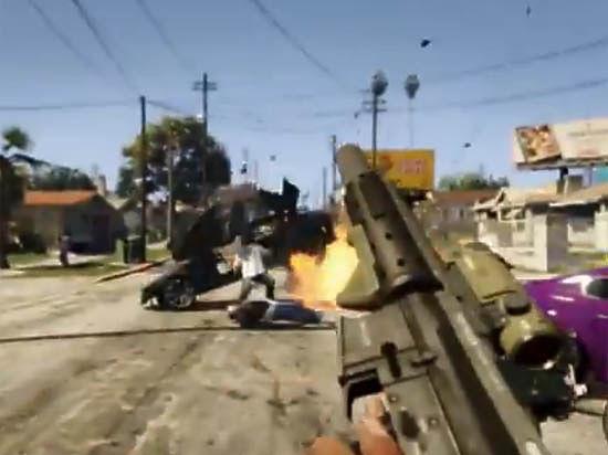 В обновлённом выпуске игры GTA V сделан вид от первого лица