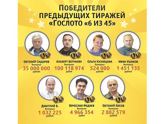 «Гослото «6 из 45»:  шесть лет лотерейных побед!