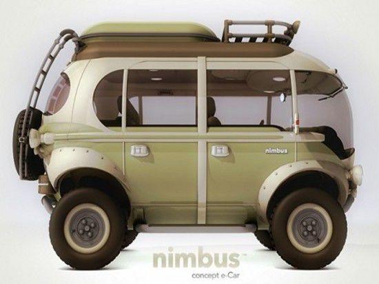 Бразильский футуристический концепт гибридного микроавтобуса