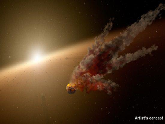 Рождение скалистой планеты под Парусом астероидной катастрофы