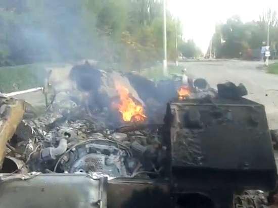 В Шахтерске уничтожена колонна украинских десантников