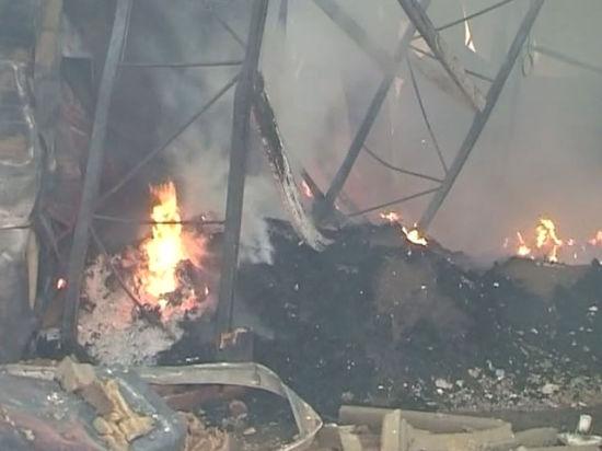 Взорвался цех завода, где делают
