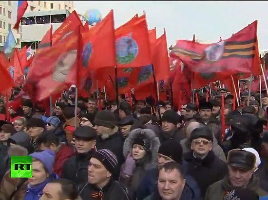 В Москве прошло шествие и митинг сторонников
