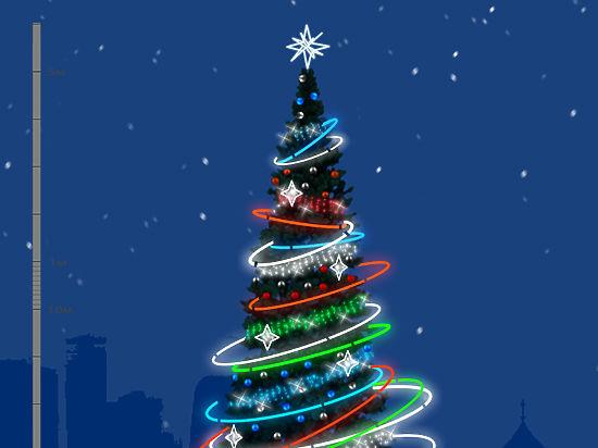 Новогоднюю Москву украсят «спиральки» и «снегоелки»