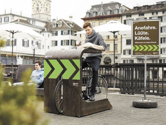 Столы в кафе будут подстраиваться под велосипедистов