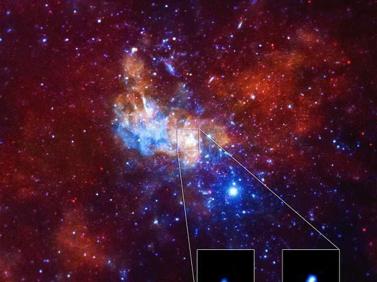 В черной дыре Млечного Пути красиво взорвался астероид