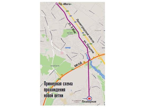 «МК» первым получил схему прохождения новой ветки потерритории города