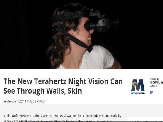 Новые приборы ночного видения позволяют видеть сквозь стены и человеческую кожу