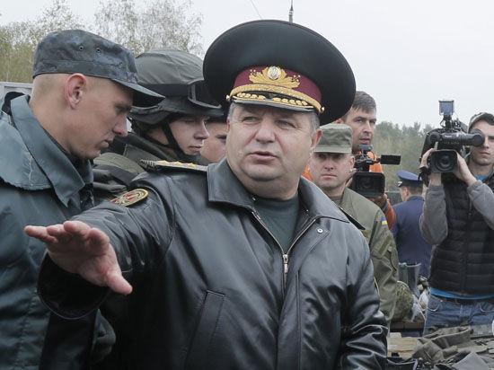 Новый министр обороны Украины Полторак пообещал мир