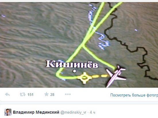 На перехват самолета Мединского вылетели два украинских МиГ-29; Рогозин до Москвы добрался