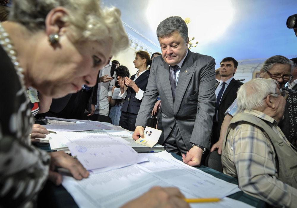 Президентские выборы на Украине: как голосовали кандидаты