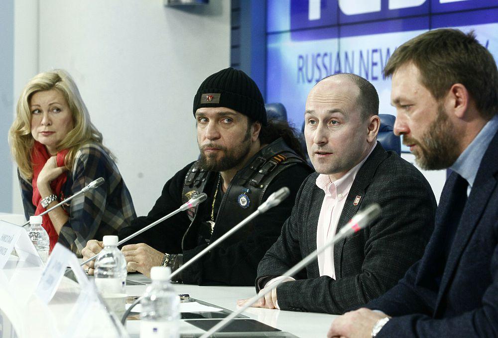 Пресс-конференция, посвященная годовщине киевского Майдана