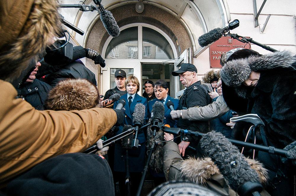 Алексей Навальный после заседания суда, 30 декабря 2014 года