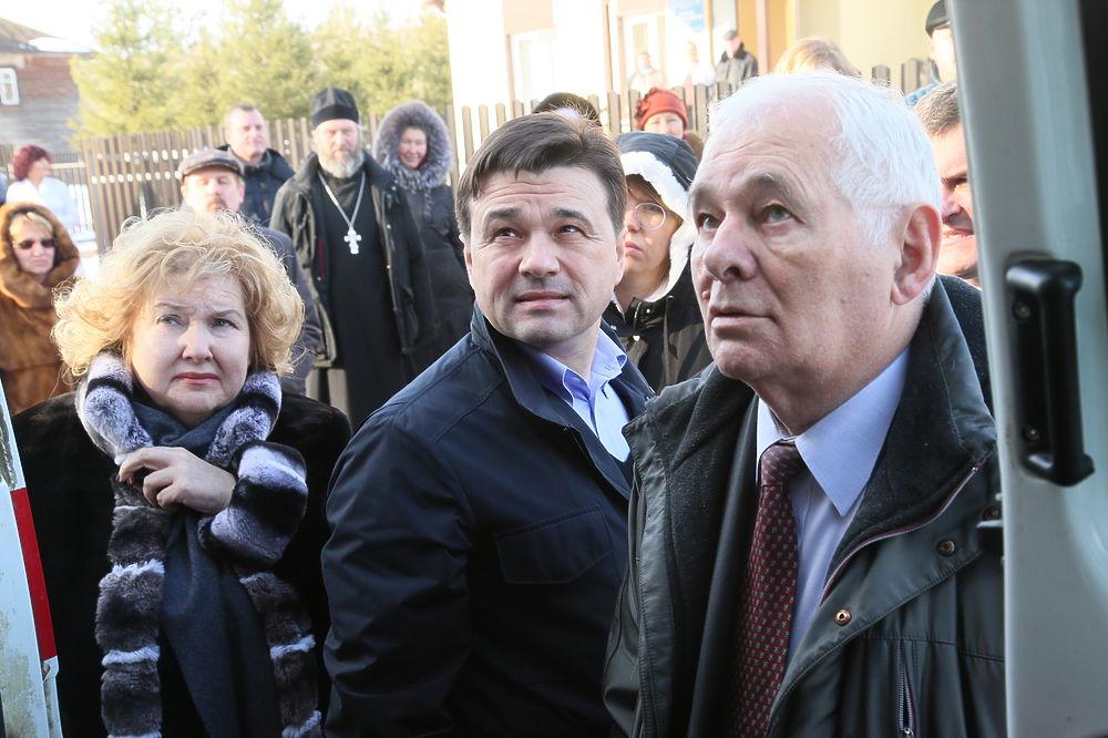 Леонид Рошаль на открытии первого ФАПа