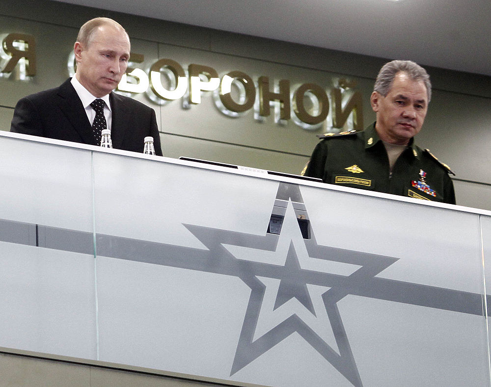 Визит Владимира Путина в Национальный центр обороны