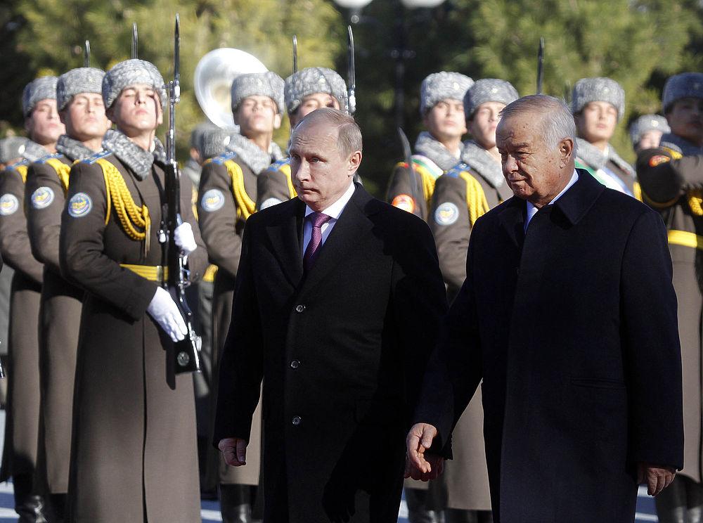 Владимир Путин во время рабочего визита в Узбекистан