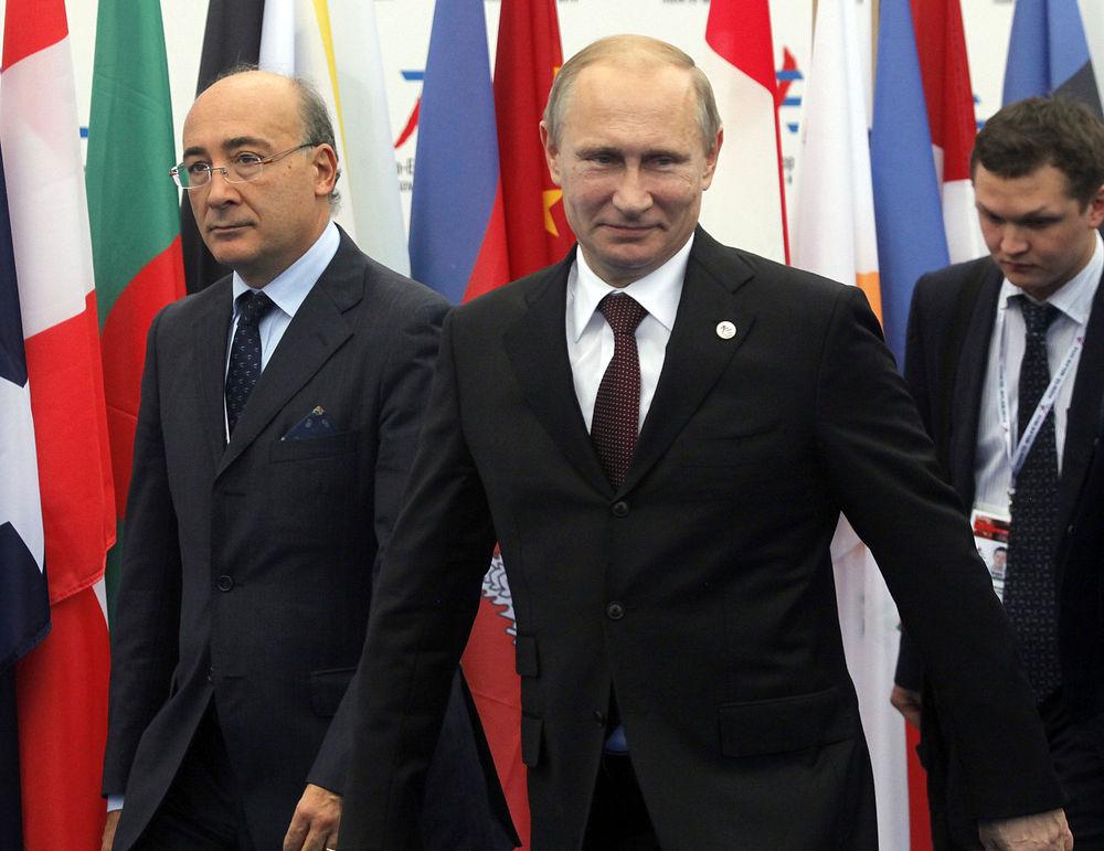Руководители государств на красной ковровой дорожке в Милане